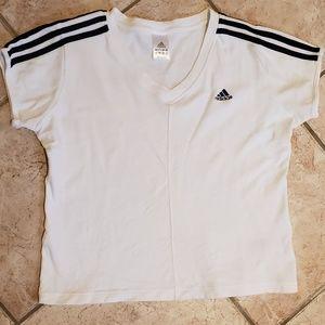 Adidas Womens Large white tshirt